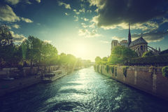 Notre Dame de Paris. France Stock Photography