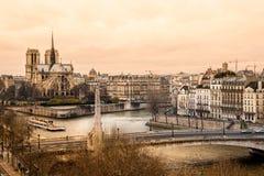 Notre dame de Paris, France. Royalty Free Stock Images