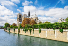 Notre Dame de Paris, France famous landmark Stock Photos