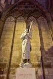 Notre Dame de Paris, France. Joan of Arc monument in Notre Dame de Paris, France Royalty Free Stock Images