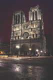 Notre Dame de Paris, France at night Royalty Free Stock Photography