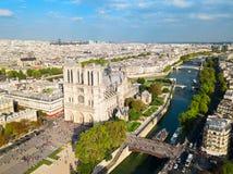 Notre Dame de Paris, Frankreich lizenzfreie stockfotos