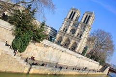 Notre Dame de Paris, Frankrijk Stock Foto's
