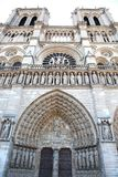 Notre-Dame de Paris is a historical monument and the world famous church Royalty Free Stock Images