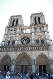 Notre-Dame de Paris is a historical monument and the world famous church Royalty Free Stock Photos