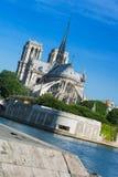 Notre Dame de Paris, Ile de la Menção, Paris, França Imagem de Stock Royalty Free
