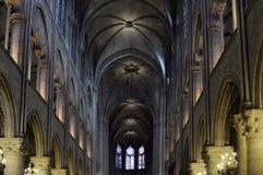 Notre Dame de Paris - inre royaltyfria foton