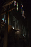 Notre Dame de Paris interior Stock Photos