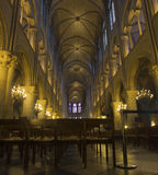 Notre Dame de Paris interior Royalty Free Stock Image