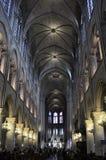 Notre Dame de Paris - interior Royalty Free Stock Images