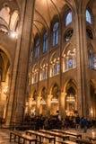 Notre Dame de Paris Interrior stock foto's