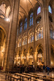 Notre Dame de Paris. Interrior. Paris, France Stock Photos