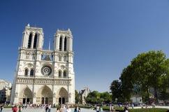 Notre Dame de Paris, Paris, Frankrike Arkivfoto