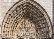 Notre Dame De Paris katedra: Architektoniczni szczegóły Paryż, Fra Obraz Stock