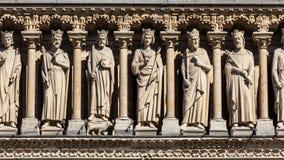 Notre Dame De Paris katedra: Architektoniczni szczegóły Paryż, Fra Zdjęcie Royalty Free