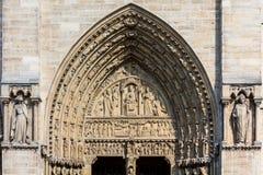 Notre Dame De Paris katedra: Architektoniczni szczegóły Paryż, Fra Obrazy Stock