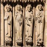 Notre Dame De Paris katedra: Architektoniczni szczegóły Paryż, Fra Zdjęcia Royalty Free
