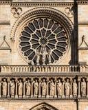 Notre Dame De Paris katedra: Architektoniczni szczegóły Paryż, Fra Fotografia Royalty Free