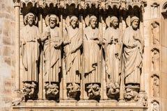 Notre Dame De Paris katedra: Architektoniczni szczegóły Paryż, Fra Zdjęcia Stock
