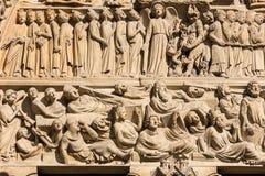 Notre Dame De Paris katedra: Architektoniczni szczegóły Paryż, Fra Zdjęcie Stock