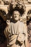 Notre Dame De Paris katedra: Architektoniczni szczegóły Paryż, Fra Fotografia Stock
