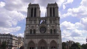 Notre-Dame de Paris banque de vidéos