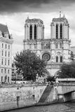 Notre Dame de Paris, the most popular city landmark Stock Photo