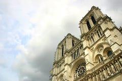 Notre Dame de Paris na het onweer Stock Foto