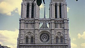 Notre Dame de Paris stock video