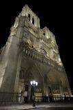 Notre-Dame de Paris at night. Stock Photo