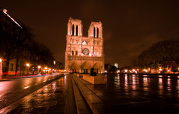 Notre Dame De Paris by night Stock Image
