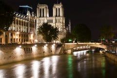 Notre-Dame de Paris by night Stock Photos