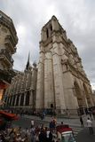 Notre Dame de Paris, Notre Dame de Paris, Hôtel Notre Dame, sky, building, facade, vehicle. Notre Dame de Paris, Notre Dame de Paris, Hôtel Notre Dame is sky Royalty Free Stock Photo