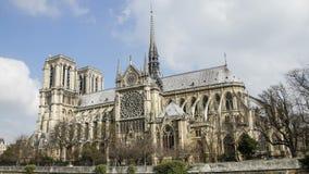 Notre Dame de Paris, o Notre Dame Cathedral, Par?s, Francia Lapso de tiempo almacen de metraje de vídeo