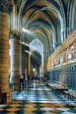 Notre-Dame de Paris - october 10, 2016 , Paris. Inside view of N Royalty Free Stock Photo