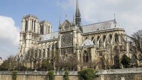 Notre Dame de Paris oder Notre Dame Cathedral, Paris, Frankreich Geschossen auf Kennzeichen II Canons 5D mit Hauptl Linsen stock footage