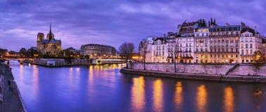 Notre Dame de Paris, panorama. Royalty Free Stock Image