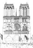 Notre Dame de Paris - París, Francia ilustración del vector
