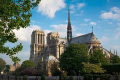 Notre Dame de Paris, Parigi, Francia Fotografia Stock Libera da Diritti