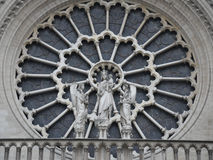 Notre Dame de Paris. ,Notre Dame Cathedral, the Son of God, Mary mother, Paris, France, Angel, pray, bless Stock Photography