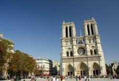 Notre Dame de Paris, Paris, Frankrike Fotografering för Bildbyråer