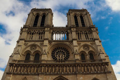 Notre Dame DE Paris in Paris of French Stock Images