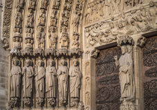 Notre-Dame de Paris, the Portal of the Judgement Royalty Free Stock Photography