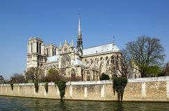 Notre-Dame de Paris and the Seine Royalty Free Stock Photo