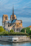 Notre dame de paris and the seine river France Stock Images