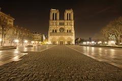 Notre Dame de Paris sin la gente Imagenes de archivo