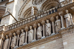 Sculptures of Notre Dame de Paris Stock Image