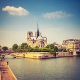 Notre Dame de Paris. At spring, France Royalty Free Stock Image