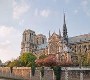 Notre Dame de Paris in spring time Stock Photo