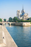 Notre-Dame de Paris in the summer morning. Paris, France Stock Images